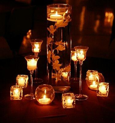 Ideas para casamientos vestidos de bodas - Centro mesa velas ...