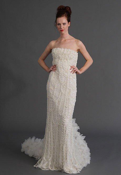 Vestidos de novias con perlas