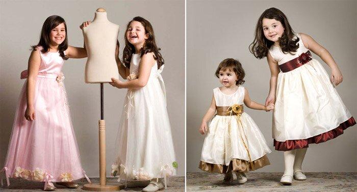 Vestidos para niñas con organza